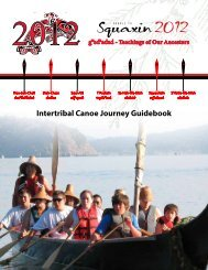 Canoe Journey Guidebook - Squaxin Island Tribe