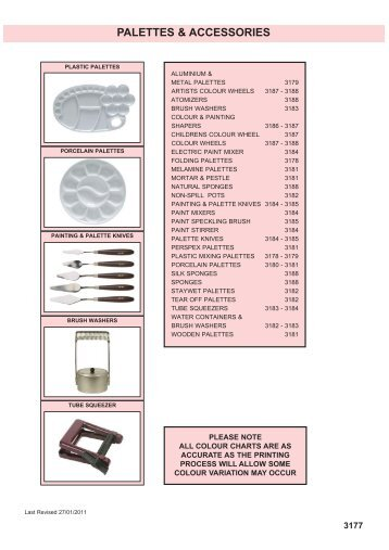 PALETTES & ACCESSORIES - Squires Model and Craft Tools