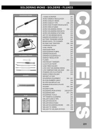 soldering irons - solders - fluxes - Squires Model and Craft Tools