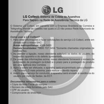 LG Collect: Sistema de Coleta de Aparelhos Para Reparo na Rede ...