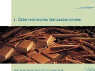 1. Österreichisches Genussbarometer