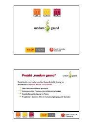 "Projekt ""rundum gsund"" - Forum Ernährung"