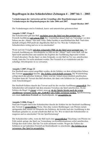 Korrektur der Regelfragen - Schiedsrichter - KFA Rhoen-Rennsteig