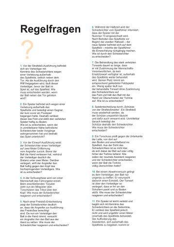 Regelfragen und Antworten 1