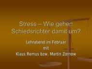 Stress - Wie
