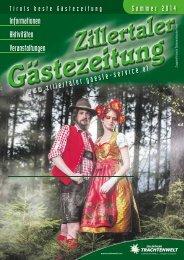 Zillertaler Gästezeitung Sommer 2014