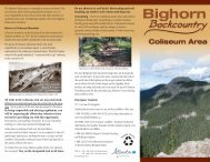 Bighorn Backcountry Coliseum Area - Alberta Sustainable Resource ...