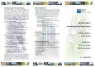 Programmfolder - Fachbereich Stadt- und Regionalforschung
