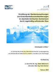 Kurzfassung - Fachbereich Stadt- und Regionalforschung