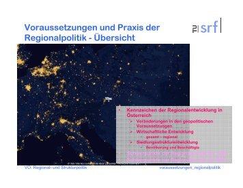 Voraussetzungen und regionale Trends