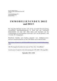 I M M O B I L I E N I N D E X  2011/2 und 2011/3 - Fachbereich Stadt ...