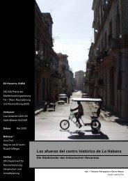 Las afueras del centro histórico de La Habana