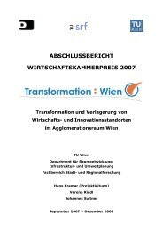 Abschlussbericht - Fachbereich Stadt- und Regionalforschung