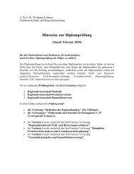 Hinweise zur Diplomprüfung - Fachbereich Stadt- und ...