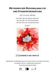 inhalte - Fachbereich Stadt- und Regionalforschung - Technische ...