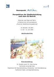 stadtentwicklung in tallinn - Fachbereich Stadt- und ...