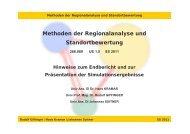 Methoden der Regionalanalyse und Standortbewertung