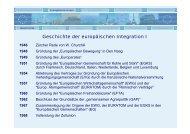 Geschichte der europäischen Integration I