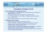 Vertragliche Grundlagen der EU