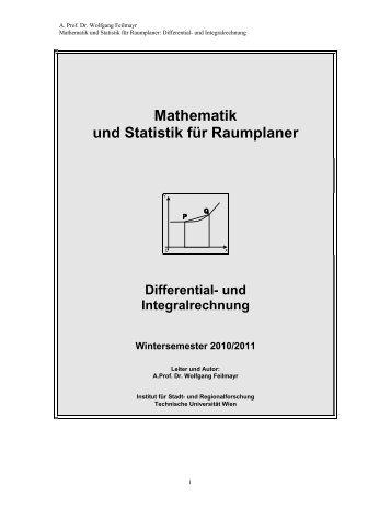 Teil 3: Differential- und Integralrechnung - Fachbereich Stadt- und ...