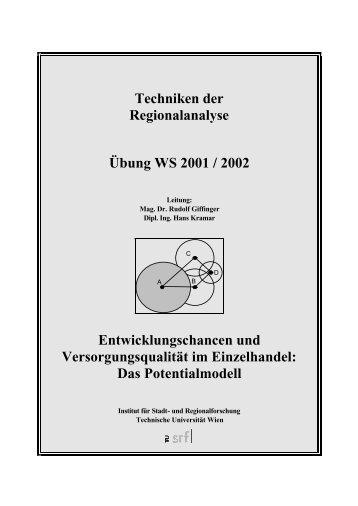Potentialmodell - Fachbereich Stadt- und Regionalforschung ...