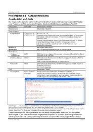 Aufgabenstellung - Fachbereich Stadt- und Regionalforschung
