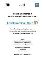 Forschungsbericht - Fachbereich Stadt- und Regionalforschung ...