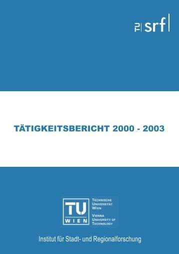 TÄTIGKEITSBERICHT 2000 - 2003 - Fachbereich Stadt- und ...