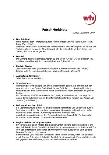 Merkblatt Futsal 1
