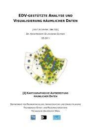 Kartographische Aufbereitung räumlicher Daten - Fachbereich Stadt ...