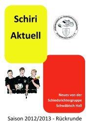 Schiri Aktuell - Schiedsrichtergruppe Schwäbisch Hall