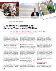 Das digitale Zeitalter und der alte Turm – zwei Welten