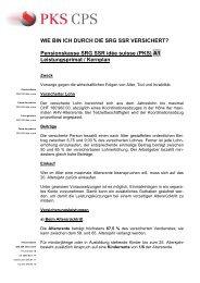 Pensionskasse SRG SSR idée suisse