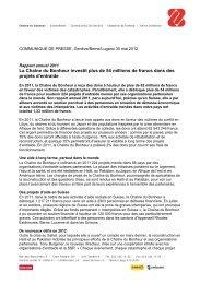 La Chaîne du Bonheur investit plus de 54 millions de ... - SRG SSR