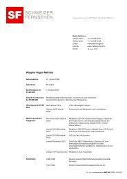 CV Nathalie Wappler - SRG SSR