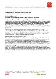 Chaîne du Bonheur : 65 ans de solidarité et de ... - SRG SSR