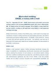 Micro-shot molding: ENGEL e-victory with x-melt - Engel Austria