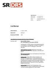 CV Lis Borner - SRG SSR