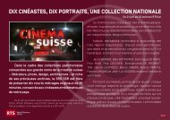 Dossier RTS: CINEMAsuisse - SRG SSR