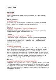 Cronica 2009 - SRG SSR