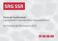 Festival del film Locarno 2012 - SRG SSR
