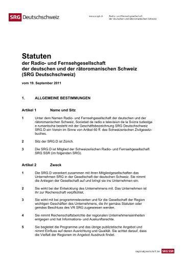 Statuten - SRG SSR