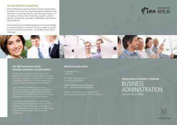 BUSINESS ADMINISTRATION - SRH Hochschule Berlin