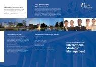 International Strategic Management - SRH Hochschule Berlin