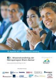 5. Wissenstransfertag der Metropolregion Rhein-Neckar - SRH ...