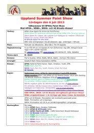 info - Scandinavian Reining Horse Association