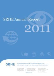 SRHE Annual Report - Society for Research into Higher Education
