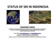 STATUS OF SRI IN INDONESIA - SRI - India