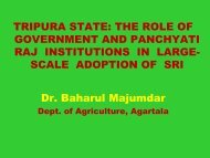 TRIPURA STATE: THE ROLE OF GOVERNMENT AND ... - SRI - India