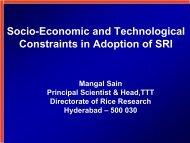 Socio-Economic and Technological Constraints in ... - SRI - India